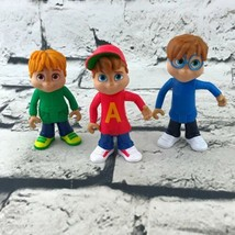Alvin & The Chipmunks Set Of 3 Alvin Simon Theodore Figures By Mattel 2016 - $19.79