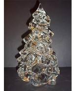 """Mosser Glass CLEAR CRYSTAL LARGE 8"""" CHRISTMAS TREE Figurine Decoration New! - $38.75"""