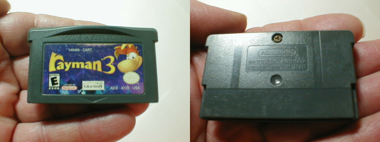 Rayman 3 Nintendo Game Boy Advance GBA 2003 Cartridge Only Tested