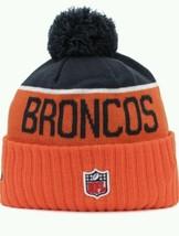 New EraNFL 2015 Sport Game Knit Hat Toboggan Skull Cap Navy Blue Orange... - $60.75