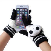 TWITTER FINGERS SMART PHONE TOUCH SCREEN GLOVES PANDA BEAR CAT WINTER MI... - ₨1,076.94 INR