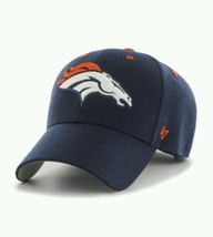 NFL '47 Clean Up Adjustable Hat One Size Fits All Navy Blue Orange Footb... - $42.08