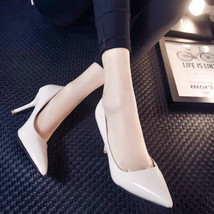 PP031 sexy elegant sharp headed pumps, kitten heels, size 34-39,  white - $69.99