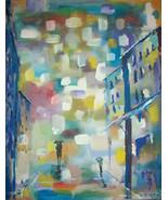 Original 8x10 Abstract Romance Canvas Wall Art -: rdoward fine art - $19.00