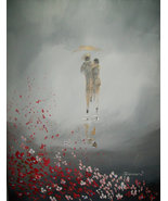 Original 8x10 Abstract Canvas Wall Art 10 -: rdoward fine art - $19.00