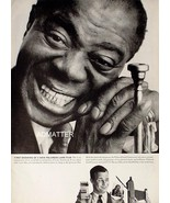 1958 Louis Armstrong Vintage Polaroid Camera Pin-up Ad Jazz Singer Satch... - $9.89