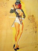 FREEMAN ELLIOT TOPLESS PINUP GIRL POSTER LUCKY CHARM IRISH LEPRECHAUN PH... - $7.84