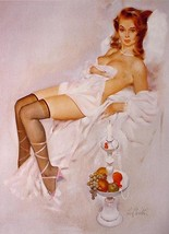 """FRITZ WILLIS PIN-UP GIRL 8.5""""X11"""" POSTER SEXY TOPLESS BRUNETTE HOT PHOTO... - $14.84"""