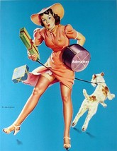 Gil Elvgren 10X12 PIN-UP GIRL POSTER FROM THE 1943 PAINTING HELP WANTED - $9.74