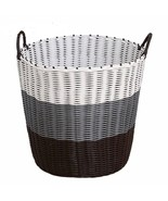 Basket Laundry Plastic Weaved Handles Storage Box Household Sundries Clo... - $22.89