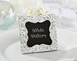 96 Silver Glitter Chalkboard Picture Photo Frame Place Card Holder Weddi... - $170.95