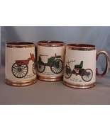 Set of 6 Gibson, Staffordshire UK Copper Luster Antique Car Mugs - $22.00
