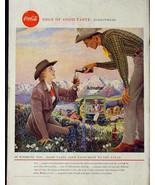 1958 COKE COCA-COLA VINTAGE PRINT AD! 1950'S WORLD THEME WYOMING COWBOY ... - $9.74