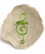 Green Treble Clef Ear Cuff, No Piercing Cartilage Earrings - $6.90+