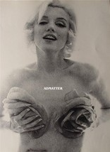 "Marilyn Monroe 2-Sided 9X12 Pin-up Poster Very Rare ""ROSES"" Photo! INSAN... - $16.14"