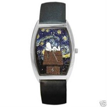 Snoopy Starry Night Van Gogh Barrel Watch   New! - $25.99