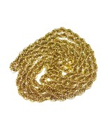 "Vintage Monet chain gold plated 55"" long shiny ... - $29.39"