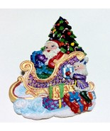 Santa Christmas Pin Brooch Elf Christmas Tree S... - $8.82