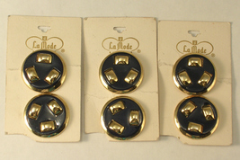 Vintage La Mode Metal Shank Buttons Navy Blue &... - $12.00