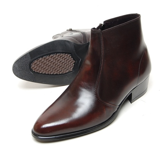 3ad437c8b034 New Men s Genuine Cow Leather Dress Formal Casual Zip Ankle Boots Chelsea  Shoes