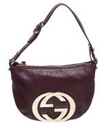 Gucci Purple Leather GG Shoulder Handbag - $395.00
