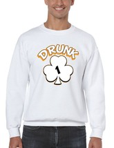 Drunk Shamrock 1-4  Men's Crewneck Sweatshirt Saint Patrick's Day Shirt - $22.00