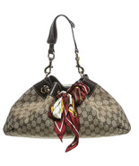 Gucci Tan Monogram Canvas Positano Handbag - $650.00