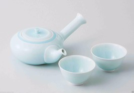 [Value] Hasami Celadon Porcelain : Kyusu tea pot & 2 Yunomi tea cups Set... - $102.85