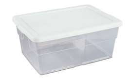 Sterilite 16 Quart Clear Stacking Storage Container Tub, 24 Pack | 16448012 - $399.99