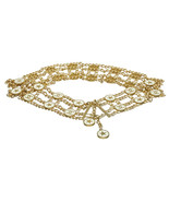Chanel Gold and Cream Star Medallion Belt - $1,795.00