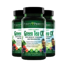 Green Tea CR (Green Tea + Curcumin + Resveratrol) 60 capsules by Purity Products