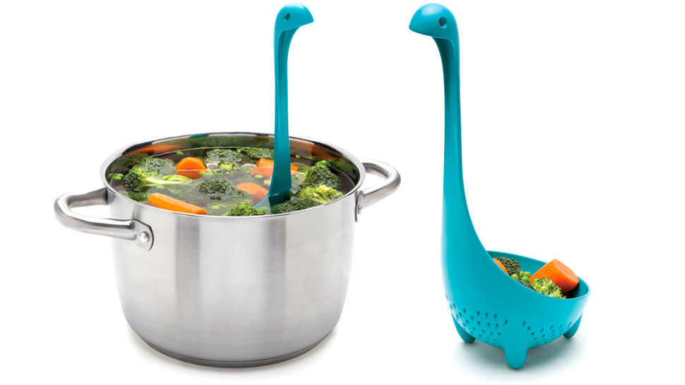 Ladles Kitchen Home Gifts Colander Spoon Funky Design Nessie Monster Spoons Fork