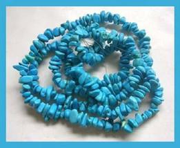 387.50ct Natural TURQUOISE Freeform Polished Gemstone Strand Necklace - $79.99