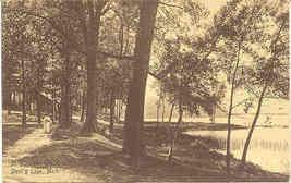 Devil's Lake Michigan Pleasant Point Vintage 1909 Post Card - $3.00