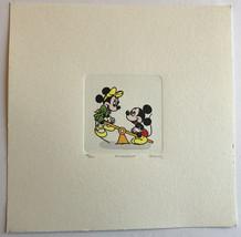 MICKEY & MINNIE MOUSE ETCHING ARTWORK SOWA & REISER #D/500 DISNEY HAND P... - $129.00