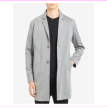 Calvin Klein Mens Unstructured Knit Button Trench Coat Jacket