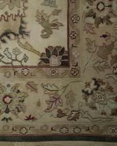 Agra Wool Handmade Rug 10 x 14 Oriental Ivory Rug image 2