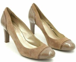 Bandolino Women Classic Pump Heels Levenham Size US 10M Brown Suede Leather - $20.20
