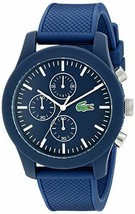 Lacoste Men's 2010824 12.12 Analog Display Japanese Quartz Blue Watch - $114.54