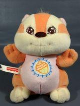 "Fisher Price Baby Squirrel Plush Rattle Toy Orange 1998 Stuffed Animal 7"" - $14.99"