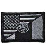 Mexican / USA Flag Patch 2x3 (Black) - $5.87