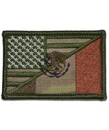 Mexican / USA Flag Patch 2x3 (Multicam) - $5.87