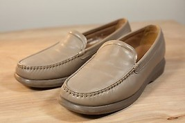 Rockport Leather Mens Light Tan Slip-on Loafers Italy Size 8 - $38.00