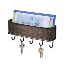 InterDesign Twillo Bronze Mail, Letter Holder, Key Rack Organizer  - $18.99