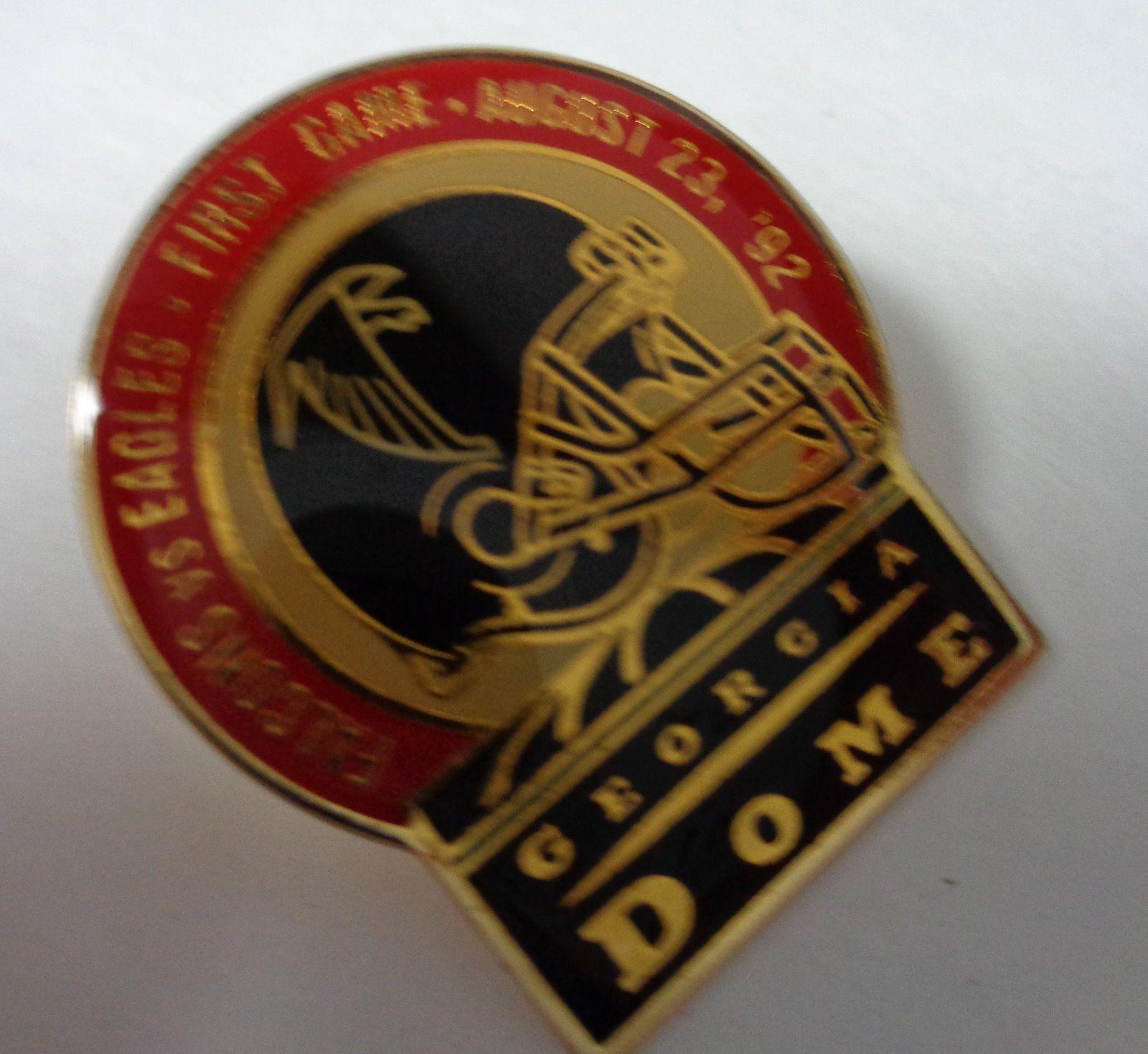 Falcons vs Eagles 1992 Atlanta Dome First Game Football Original Hat Pin