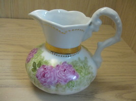 Serving Pitcher Flower & Leaf Designs Gold Accents Alka Bavaria  #3242 - $12.95