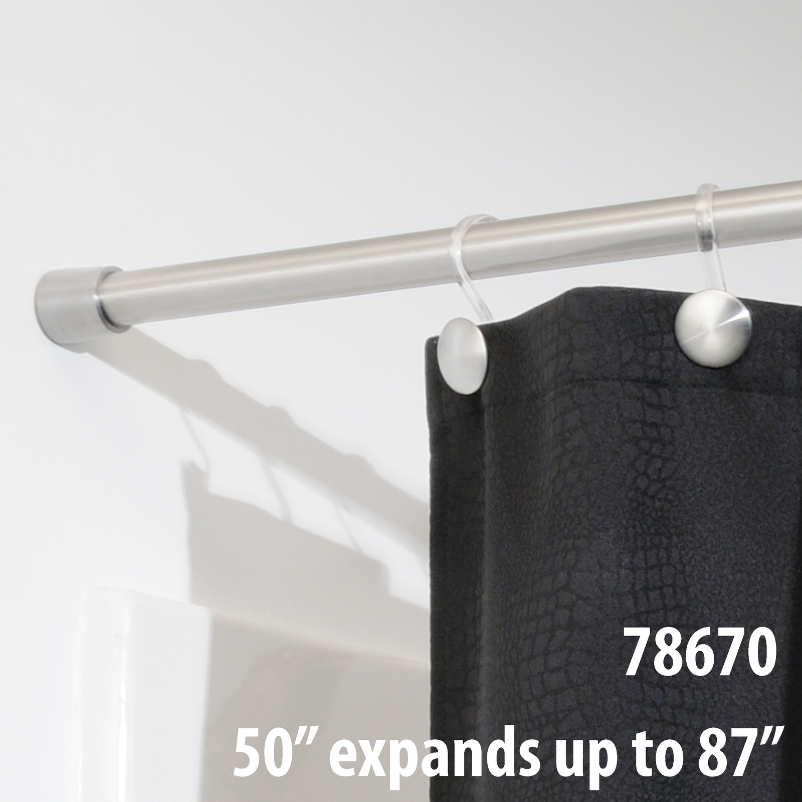 InterDesign Forma Shower Curtain Tension Rod - Large (50-87 Inch)