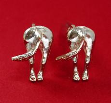 Jackass Cuff links STUBBORN as a MULE Cufflinks Vintage silver Donkey Po... - $135.00