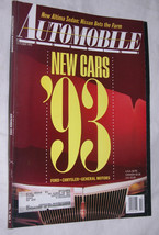 Automobile Magazine October 1992, '93 New Cars, Ford, Chrysler, General ... - $9.09