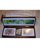 DELUXE PLAYING CARDS SET IN A WOOD BOX * BRAND NEW - NEVER USED * PLUS 5... - $9.99